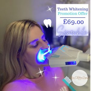 Teeth whitening treatment now available at CLB in Farnborough
